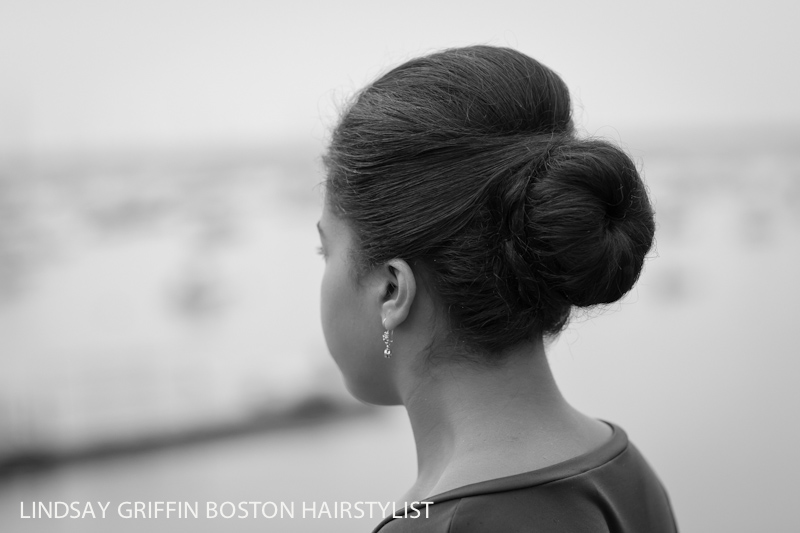 Boston wedding updo hairstylist Lindsay Griffin