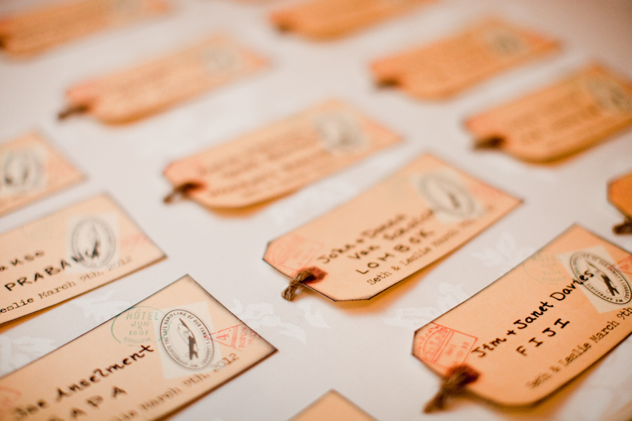 Boston wedding place cards