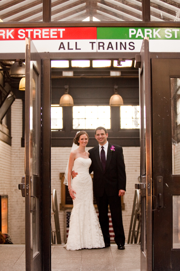 Boston wedding train shot
