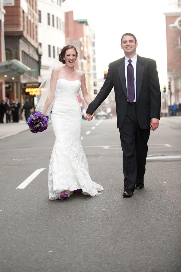 First look Boston wedding