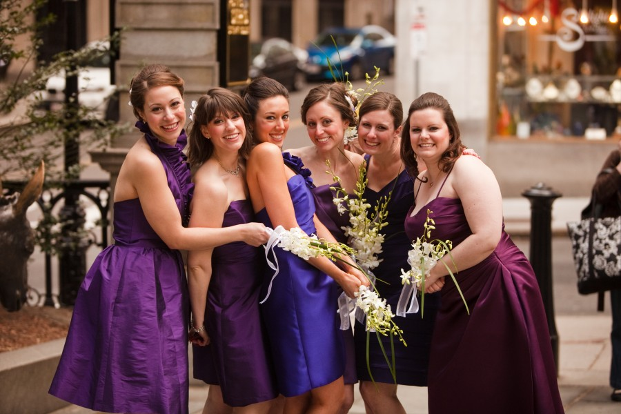 Omni Parker House Wedding bridesmaids