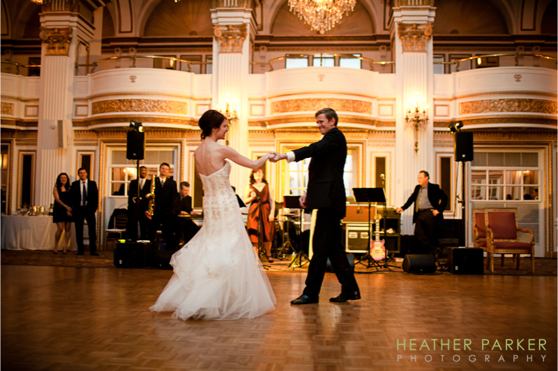 Fairmont Copley Plaza Grand ballroom Boston wedding photos
